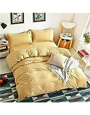 Jiaosa 4-delig aloë vera katoen, puur geel beddengoed voor 1,2-2m bed-geel-200X230CM-A4