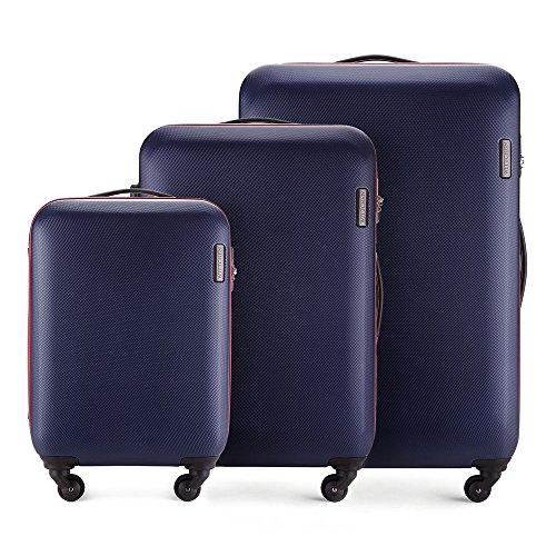 WITTCHEN Koffer – Set of 3 | hartschalen, Material: ABS | hochwertiger und Stabiler | Dunkelblau | Verschiedene Größen