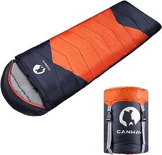 CANWAY寝袋 シュラフ 封筒型 210T防水 キャンプ スリーピングバッグ 収納袋付き オールシーズン バージョンアップ 1.9KG