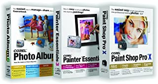 Corel Paint Shop Pro X / Painter Essentials 3 / Photo Album 6 Deluxe Bundle [OLD VERSION]
