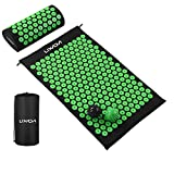 Lixada Acupressure Mat and Pillow Set with 2pcs Spiky Massage Balls for Back/Neck/Feet