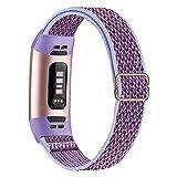 Fengyiyuda Elástico Nylon Correa de Reloj Compatible con Correa Fitbit Charge 3/4,Bandas para...