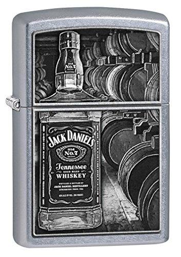 Zippo Lighter: Jack Daniels Bottle and Barrels - Street Chrome 79338