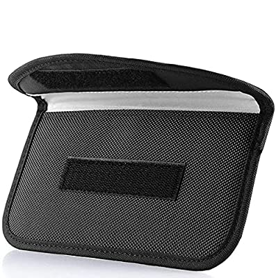 ONEVER Signal Blocking Bag, [2 Pack] GPS RFID Faraday Bag Shield Cage Pouch Wallet Phone Case for Cell Phone Privacy Protection and Car Key FOB, Anti-Tracking Anti-Spying