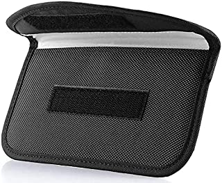 ONEVER Signal Blocking Bag, [2 Pack] GPS RFID Faraday Bag Shield Cage Pouch Wallet Phone Case for Cell Phone Privacy Prote...