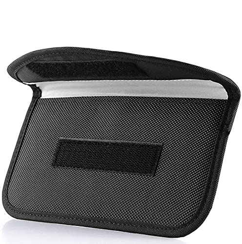 Signal Blocking Bag, ONEVER GPS RFID Faraday Bag Shield Cage Pouch Wallet Phone Case for Cell Phone Privacy Protection and Car Key FOB, Anti-Tracking Anti-Spying