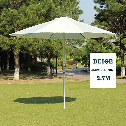 YQG Tuin, Patio 2,7 m zonnescherm Paraplu, UV-bescherming, voor buiten terras Patio Zonbescherming, Hars Base/water Injectie Base -4 kleuren, 3 soorten paraplupalen