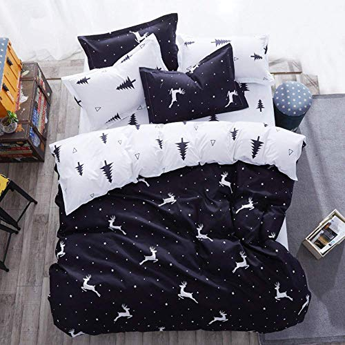 722 Rot Herz 3D Bettwäsche Set 3 Stück 1 Person Bettbezug Set mit Pillow Sham Mikrofaser Polyester (Rotes Herz, 150 x 200cm 3 Stück)