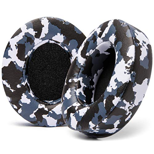 WC Wicked Cushions Replacement Ear Pads for Beats Studio 2 & 3 (B0501, B0500) Wired & Wireless | Does NOT Fit Beats Solo | Softer PU Leather, Enhanced Foam & Stronger Adhesive | Snow Camo