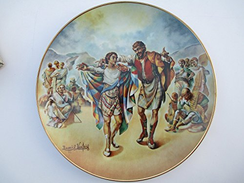 """""""The Creation """" Collectors Series Plate #11 """"Josehs Coat of Many Colors """" By Artist Yiannis Koutsis 1976"""