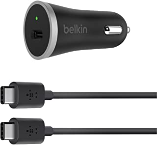 Belkin 15W USB-C Car Charger + USB-C Cable Black