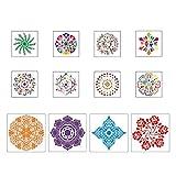 LPOQW Juego de 41 herramientas de punteado para pintar Mandala Rock Dotting Herramientas Arte Pintura Herramientas Set Pintura Pluma Arte Herramienta para Pintar Rocas Colorear