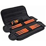 Klein Tools 32288 Destornillador aislado, juego de destornilladores 8 en 1 con cuchillas intercambiables, 3 Phillips, 3 ranuras y 2 puntas cuadradas