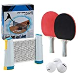 Win SPORTS Ping Pong Net Table Tennis - Paddle Set with Retractable Net,Play Anywhere Ping Pong Net for Any...