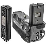 Meike Batteriegriff Akkugriff Battery Grip kompatibel mit Sony Alpha A9 A7RIII A7III - Ersatz für Sony VG-C3EM inkl. Fernauslöser mit 2.4 Ghz Funk Frequenz – MK-A9 Pro