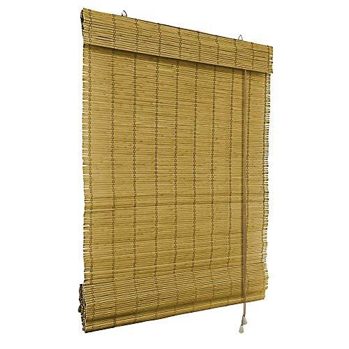 Victoria M. Bambus Raffrollo 60 x 160 cm in Braun, Sichtschutz Rollo für Fenster und Türen
