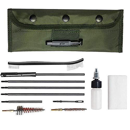 JQslight Kit de Limpieza de Pistolas, Portátil Rifle Kit de Limpieza para 5,56 mm Bolsa de Rango Portátil Compacta