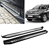 Black Side Step Rails Running Boards Replacement for 2015-2019 Highlander Aluminum OE Style