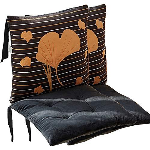 2 juegos de cojines de silla de 80x40x4,5 cm para uso en interiores y exteriores Cojín de suelo de algodón perlado y tela de felpa corta Estilo de dibujos animados lindo que muchos patrones eligen