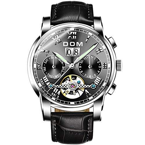 Multifunktionale leuchtende automatische mechanische Uhr Herrenuhren Sport wasserdichte Uhr Herren Marke Luxus Mode Armbanduhr-Stil: 4