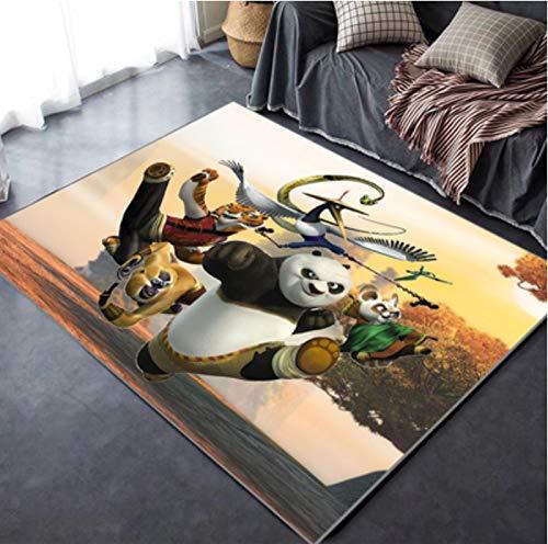 juan Alfombra Sala De Estar Mesa De Centro Dormitorio Estera De La Cabecera Habitación De Los Niños Personalidad Animación Creativa Película Linda Kung Fu Panda Alfombra Estampada 100 * 180 Cm