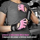 Fitself Fitness Handschuhe Trainingshandschuhe Gewichtheben Handschuhe mit Handgelenkstütze für Kraftsport Crossfit Workout Herren Damen - 5