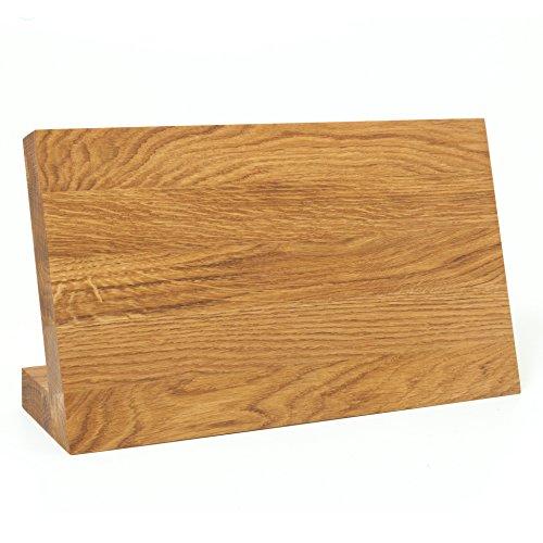 Holzfee Magnet Messerblock Massiv Eichenholz Großer Magnetblock für max. 7 Messer