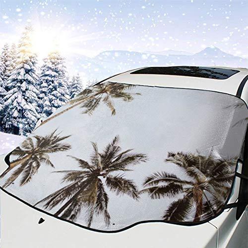 Liliylove Windschutzscheibe, Palmen, XIV, Chiang Mai, Thailand, Windschutzscheibe, Schnee, EIS-Abdeckung, hält das Fahrzeug kühl/einfach zu bedienen, passend für die meisten Autos, SUV, LKW