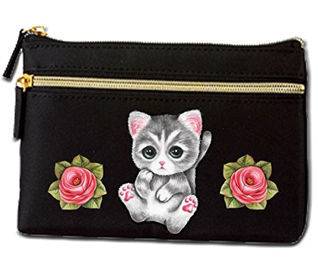 レコーダーセミナー手荷物猫 ポーチ / ネコ102/雑貨/グッズ/オリジナル