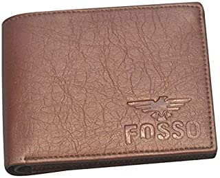 Fosso® Men Brown Artificial Leather Wallet (9 Card Slots)