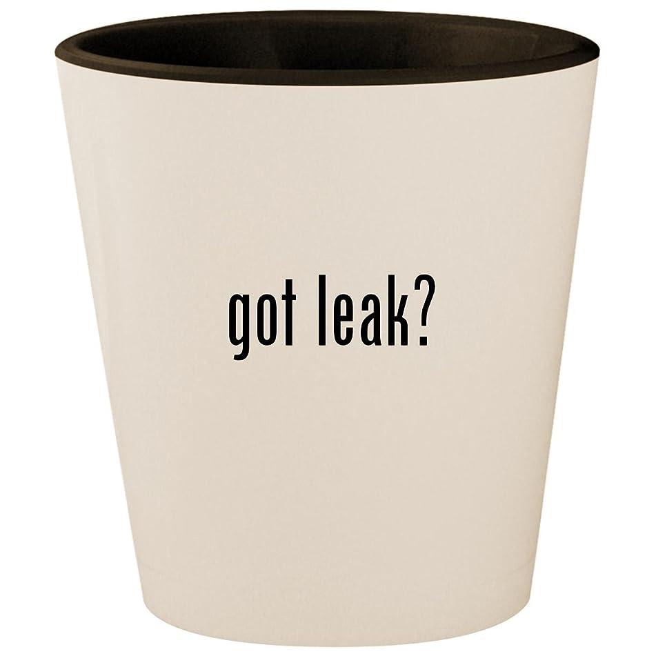 got leak? - White Outer & Black Inner Ceramic 1.5oz Shot Glass