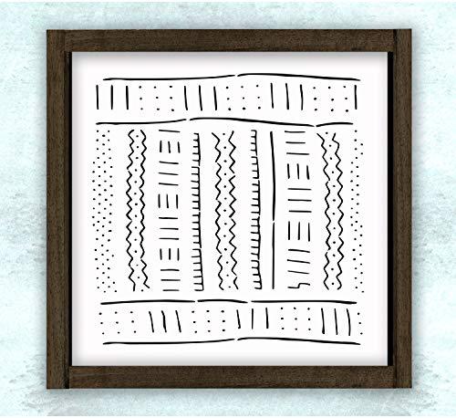 Ced454sy Boho Modder Doek Patroon houten bord Gift Sign Art Decor bedrukbaar