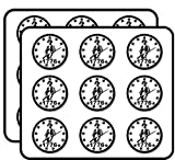 Round White Minuteman 1776-13 Stars Minutemen Patriot Border Sticker for Scrapbooking, Calendars, Arts, Album, Bullet Journals 2' 18 Pack