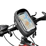 Yolansin Bolsa para manillar de bicicleta, impermeable, reflectante, con orificio para auriculares