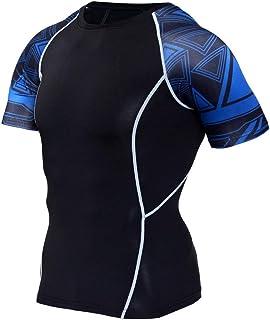 Black Compression Shirt Mens Short Sleeve Slim Dri Fit Yago Shirt