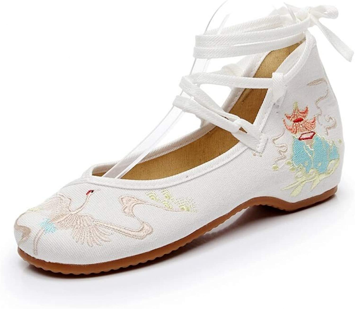 Lian shoes Old Beijing Embroidered Cloth shoes Hanfu Ancient Style Embroidered shoes Women's Breathable National Wind Women's shoes