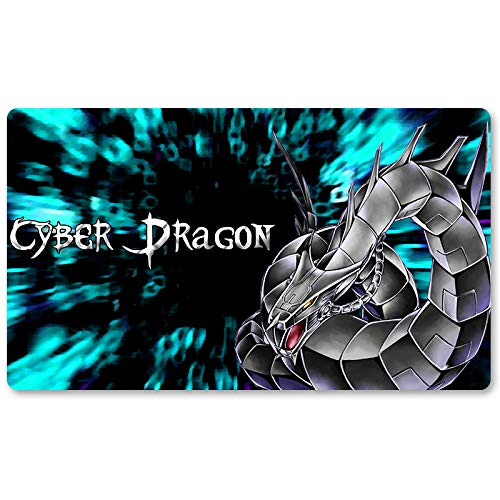 Cyber Dragon - Brettspiel Yugioh Spielmatte Spiele Tischmatte Größe 60x35cm Mousepad MTG Spielmatte für Yu-Gi-Oh! Pokemon Magic The Gathering