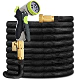 HYRIXDIRECT Garden Hose Lightweight Durable Flexible Water Hose with 3/4 Nozzle Solid Brass