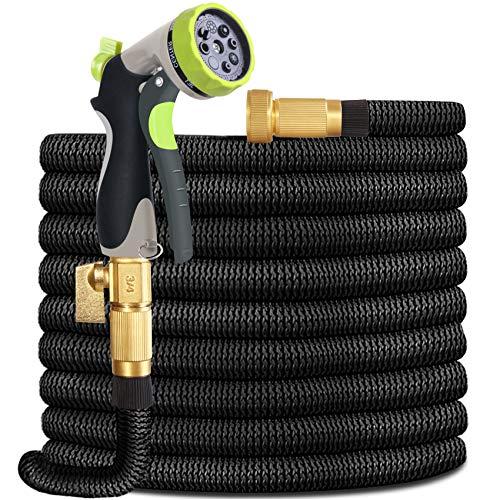 HYRIXDIRECT Garden Hose Lightweight Durable Flexible Water Hose with...