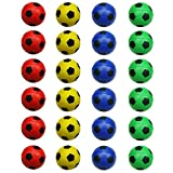 24 Counts Colorful Mini Soccer Football Stress Ball, Mixed Color Mini Foam Squeeze