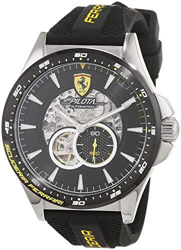 Scuderia Ferrari Orologio Skeleton Automatico Uomo con Cinturino in...