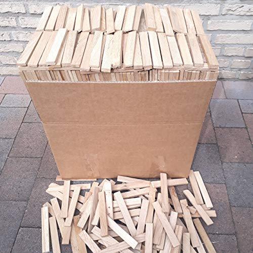 Premium Eiche Anmachholz (Neue Version 2020) – Besonders sauberes und trockenes Brenn-Holz – Ideales Anfeuerholz für eine kuschlige Raumwärme - Perfektes Zubehör um Brennholz im Kamin zu entfachen