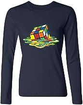 Women's Women's Melting Rubik's Cube T-Shirt Long Sleeve T-Shirt