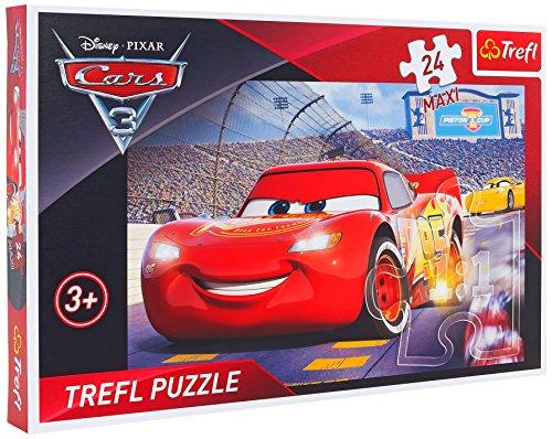 Cars 3- Puzzle Maxi, 24 Piezas Trefl 07299
