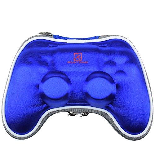 GAMINGER Borsa da viaggio, custodia, borsello per Dualshock Controller per Play Station 4 con cinturino da trasporto- blu
