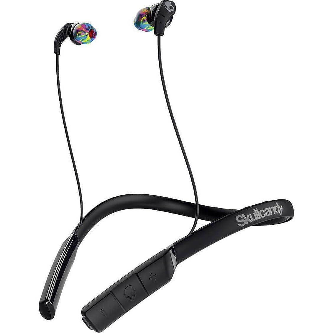 女優リサイクルする毎日Skullcandy Method Wireless カナル型ワイヤレスイヤホン Bluetooth対応 BLACK/SWIRL S2CDW-J523-A【国内正規品】