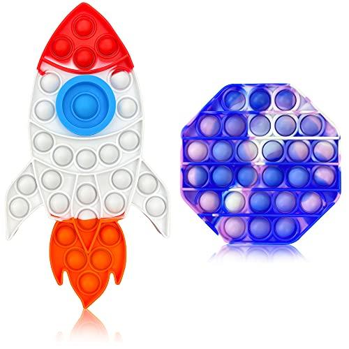 Nooni Care Bubble Pop Fidget Giocattoli 2 in 1 – Set di giocattoli sensoriali per sollievo dallo stress e anti ansia, bolle pop per autismo, ADHA, OCD e esigenze speciali