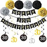 Yoaokiy 30th Anniversary Party Decorations Kit, 30th Wedding Anniversary Decorations Supplies,...