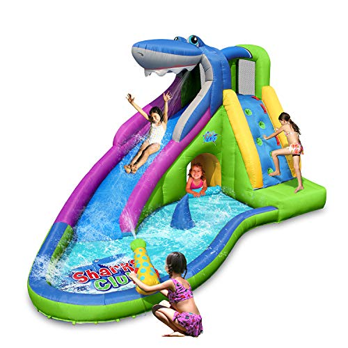 ACTION AIR Inflatable Waterslide, Shark...