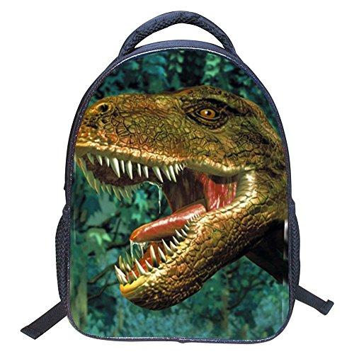 Mochila para niños Dinosaurio, 3D Dinosaurio vívido Impresión Mochilas Escolares para niños de Primaria Kindergarten Niños y niñas (Dinosaur 4)